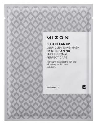 Тканевая маска очищающая MIZON Dust Clean Up Deep Cleansing Mask 25г: фото