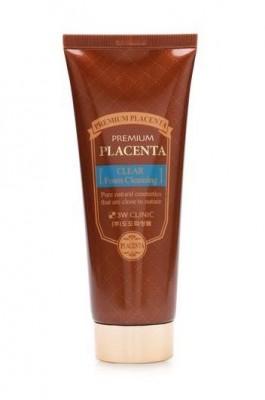 Пенка для умывания с плацентой 3W CLINIC Premium placenta clear foam cleansing 180мл: фото