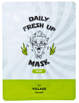 Маска с экстрактом алоэ VILLAGE 11 FACTORY Daily Fresh up Mask Aloe 20г: фото