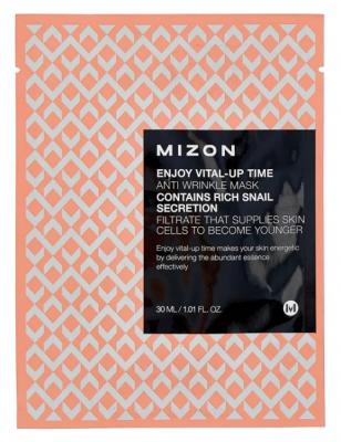 Тканевая антивозрастная маска MIZON Enjoy Vital Up Time Anti Wrinkle Mask 30мл: фото