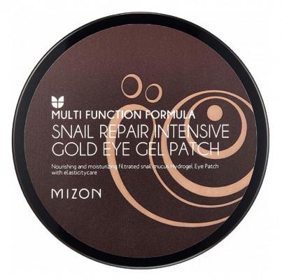 Патчи гидрогелевые с улиточным муцином MIZON Snail Repair Intensive Gold Eye Gel Patch: фото