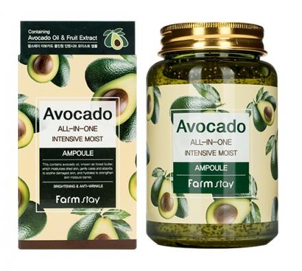 Сыворотка многофункциональная с экстратом авокадо Farmstay Avocado All-ln-One Intensive Moist Ampoule 250мл: фото