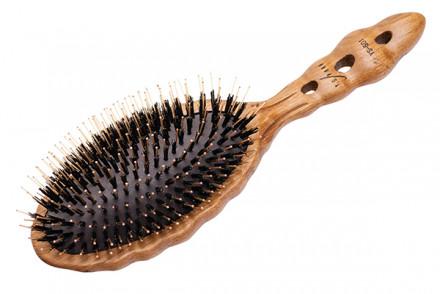 Щетка для волос с комбинированной щетиной Y.S.Park Luster Wood Styler YS-651: фото