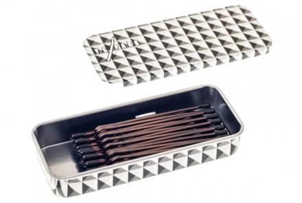 Невидимки с 4 волнами обратные 50мм Y.S.PARK YS-819 коричневые 28шт: фото